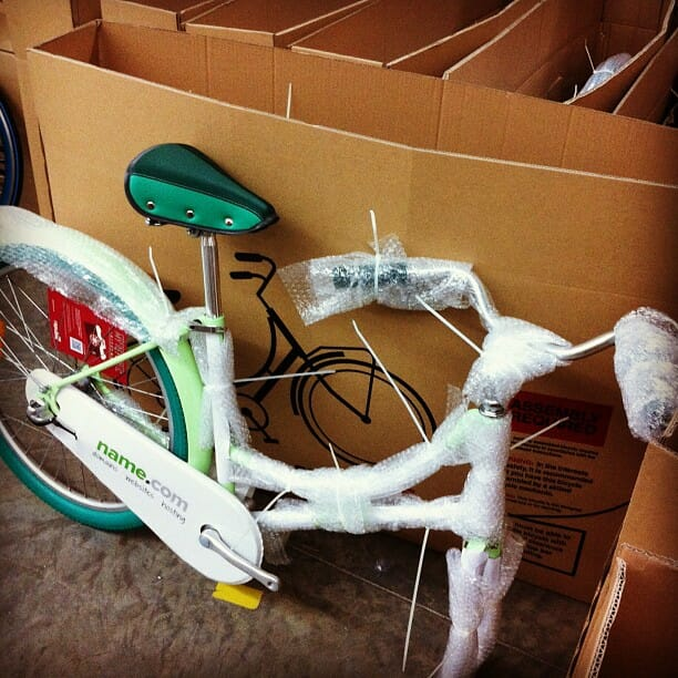 bicycles for name.com employees