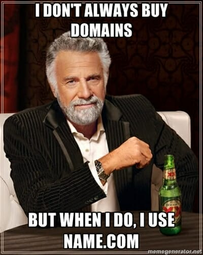 Domain name deals and savings.