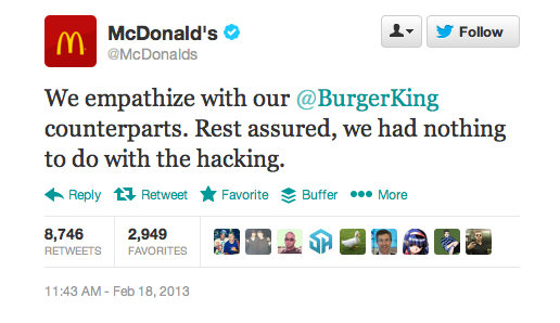 mcdonalds empathy burger king