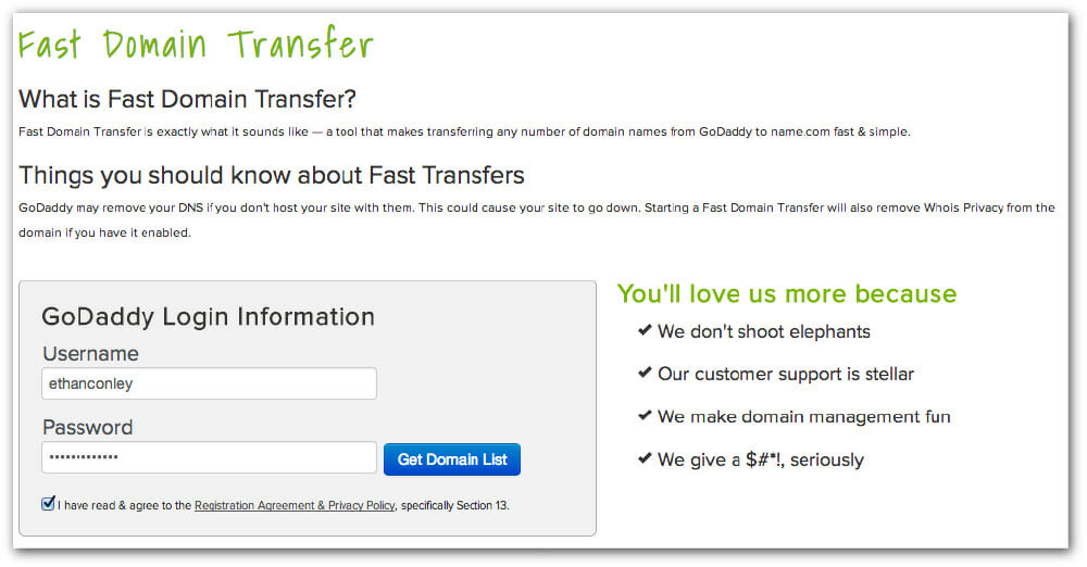 GoDaddyFastTransfer