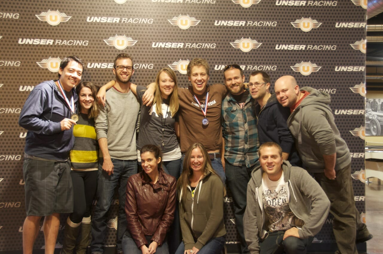 Top row, from left: Jon Liu, Kristen Pierson, Ethan Conley, Shannon Brown, Nic Steinbach, John Rupp, Kyle Robbins, and Jared Ewy. Bottom row, from left: Caroline Temple, Ashley Forker, and Alex Kehr.