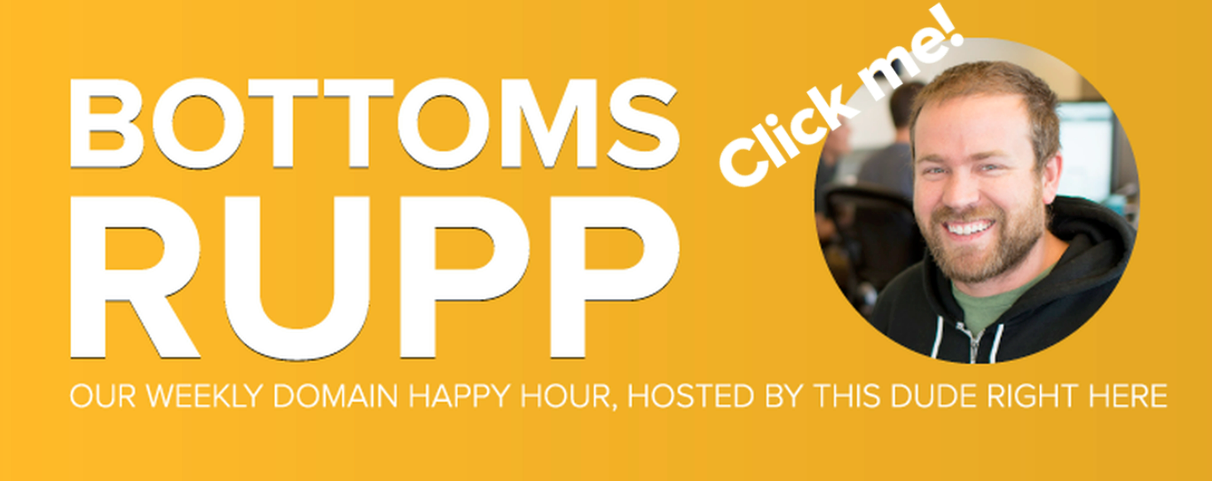 the discount domains happy hour