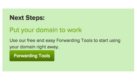 next step forwarding copy