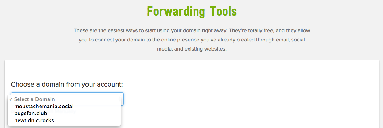 forwarding tools screenshot