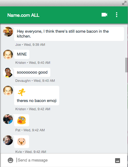 Bacon all chat