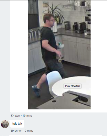 The photo evidence caught on the kitchen camera catches Ryan in the act