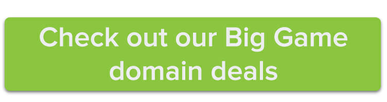 check out our Big Game domain sale