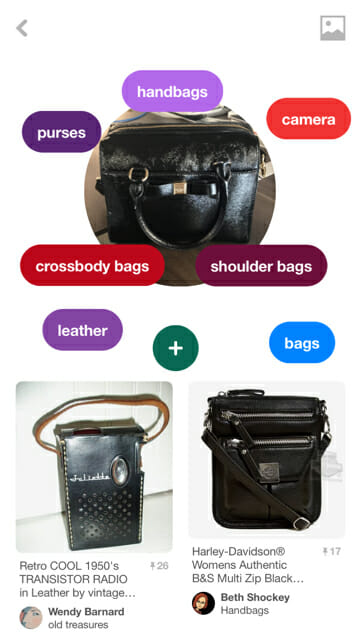 pinterest lens search for purse