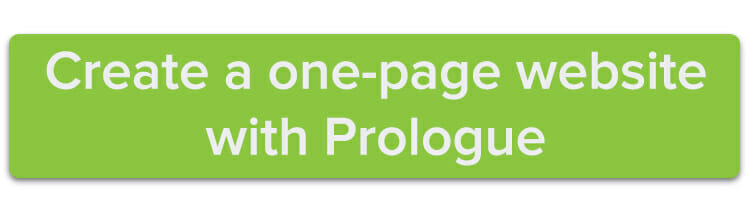 Create a one-page website with Prologue