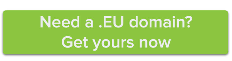 Need a .EU domain? Get yours now