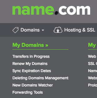 Sync domains option