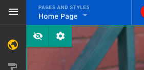 "Click the carrot next to ""Home page"""