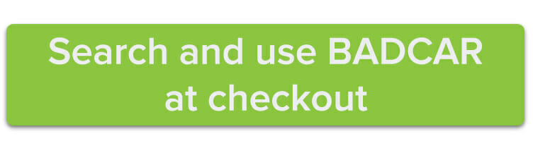 Search and use BADCAR at checkout