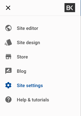 Website Builder site settings